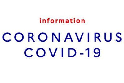 COVID-19 – Fermeture temporaire de l'Office de Tourisme