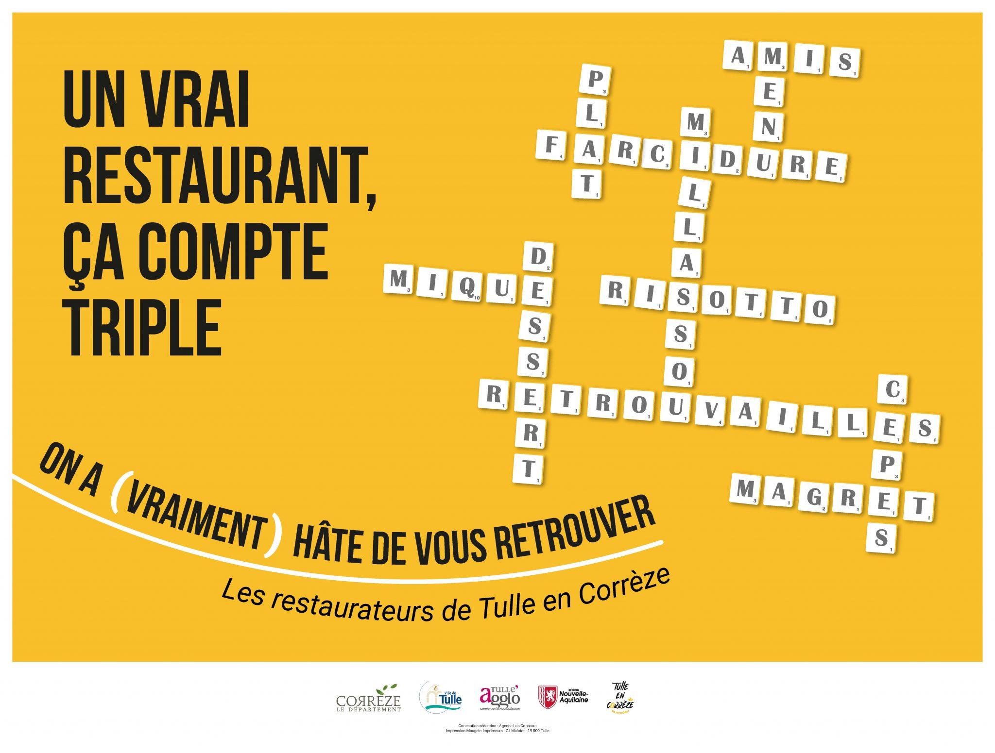 Affiche restaurateurs - Tulle en Corrèze ©Les conteurs