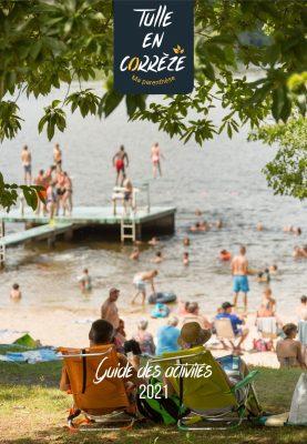 Couverture Guide des activités 2021 - Lac de Bournazel ©Malika Turin © Les Conteurs ©OT Tulle en Corrèze